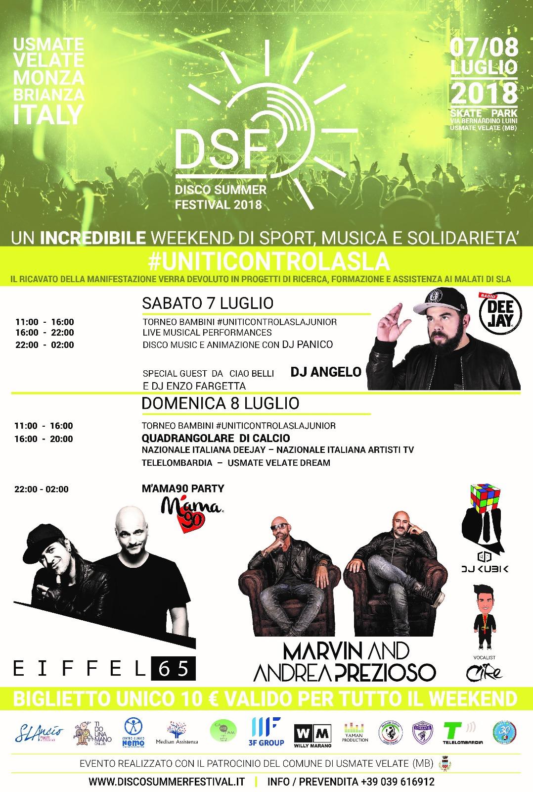 Conferenza stampa ad Usmate Velate per DSF Disco Summer Festival